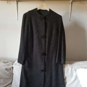 Vintage black tweed coat